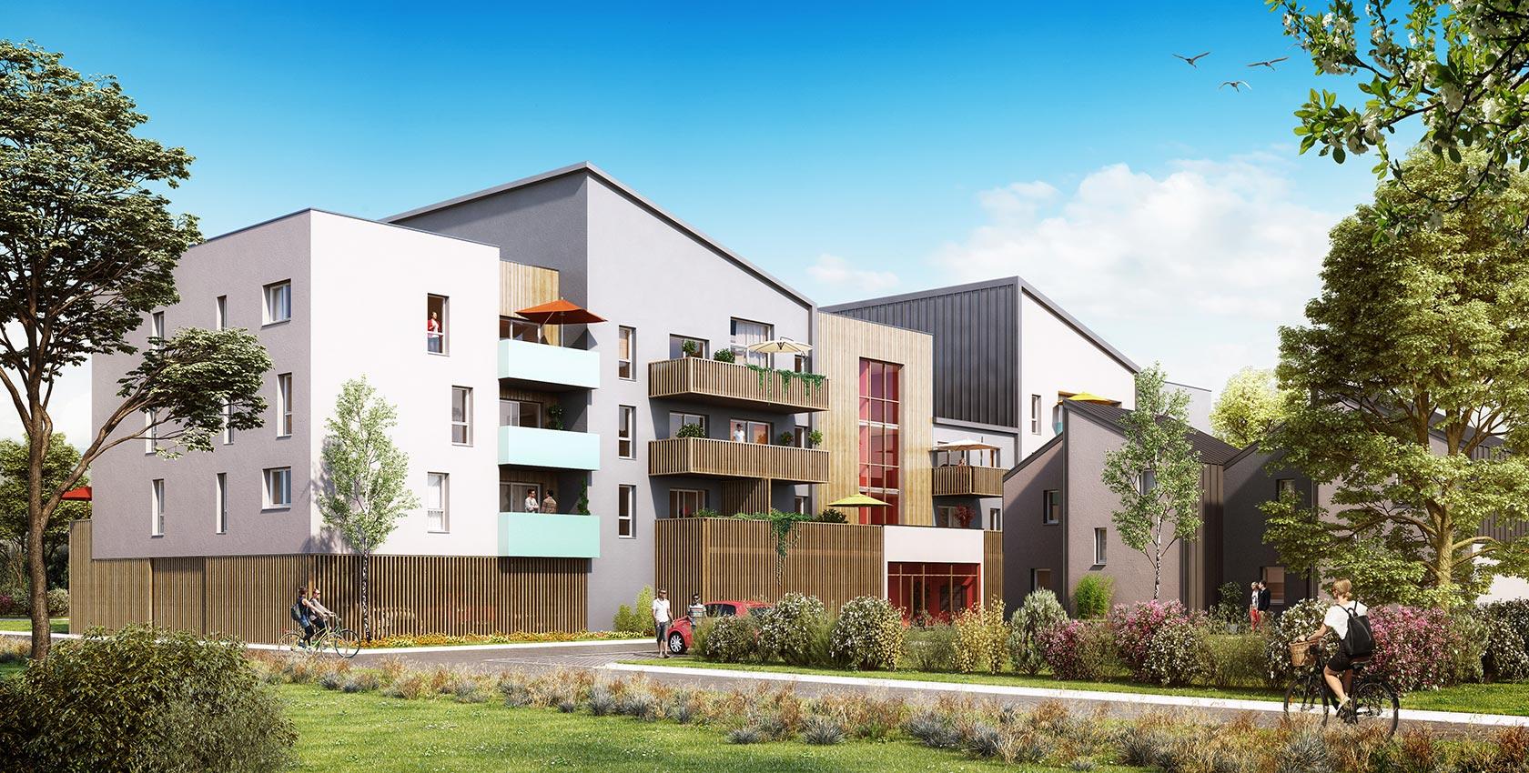 Agence Johanne San - Résidence « My Street » - Construction de 65 logements dans la ZAC des Capucins à Angers