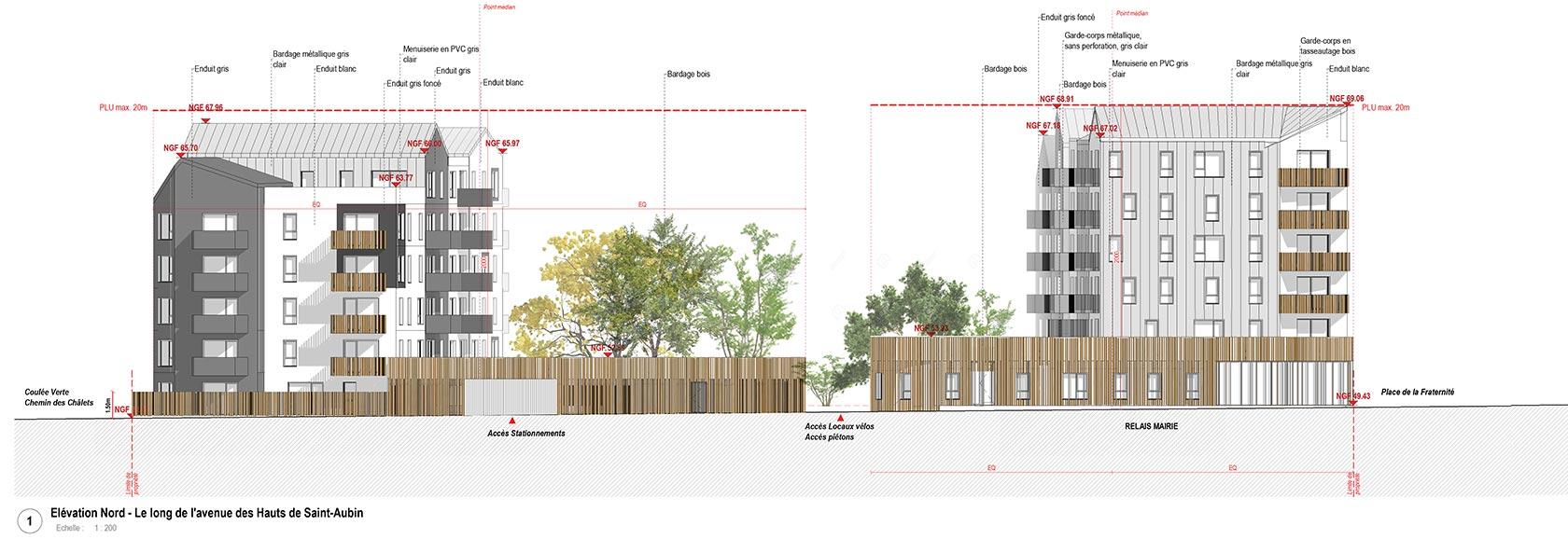 Agence Johanne San - Cœur Capucins Angers - Construction de 81 logements, d'un relais mairie et d'une cellule commerciale
