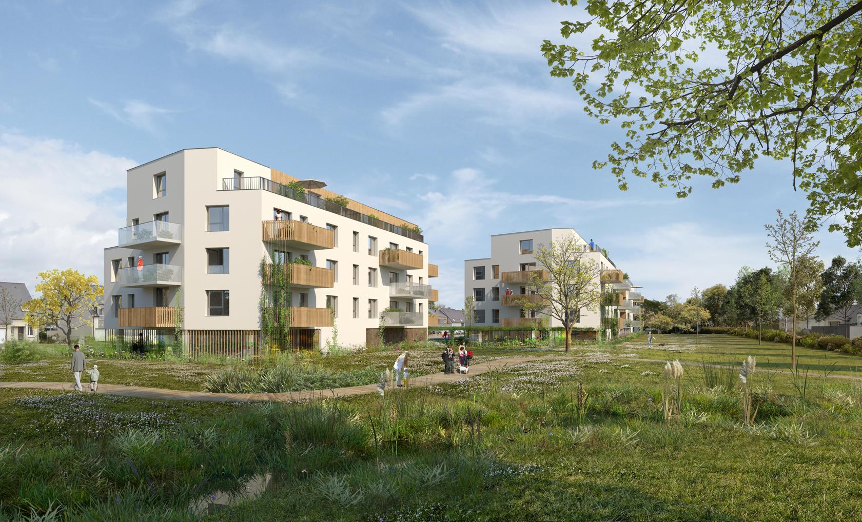 Agence Johanne San - Architecture & Urbanisme - Îlot 15, ZAC de la Quantinière - Conception réalisation de 63 logements à Trélazé